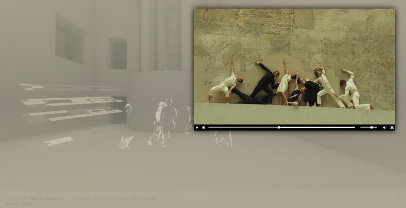 »Dialoge 09 - Neues Museum« Interaktive Website Screenshot