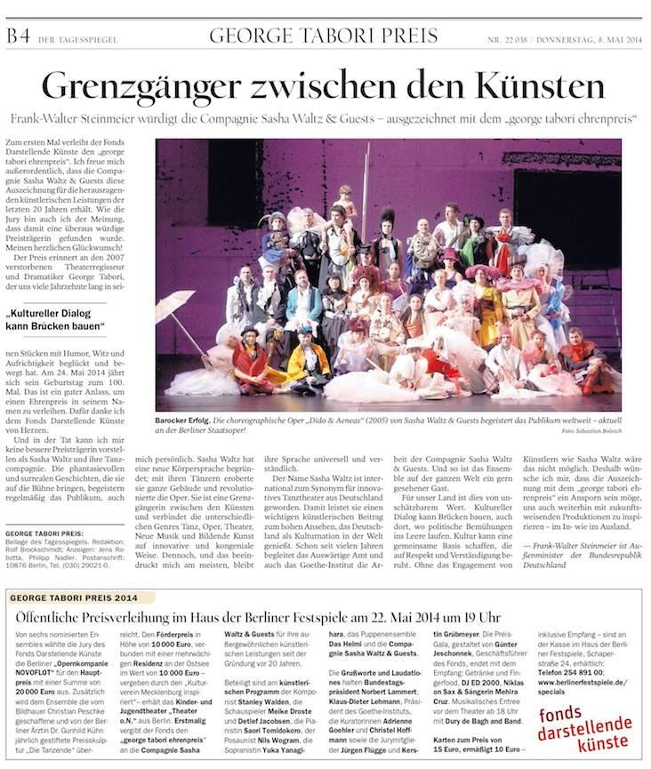 Zeitung Grusswort Steinmeier